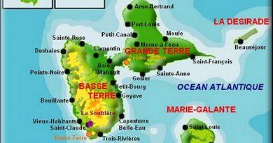 Carte de l'archipel de Guadeloupe