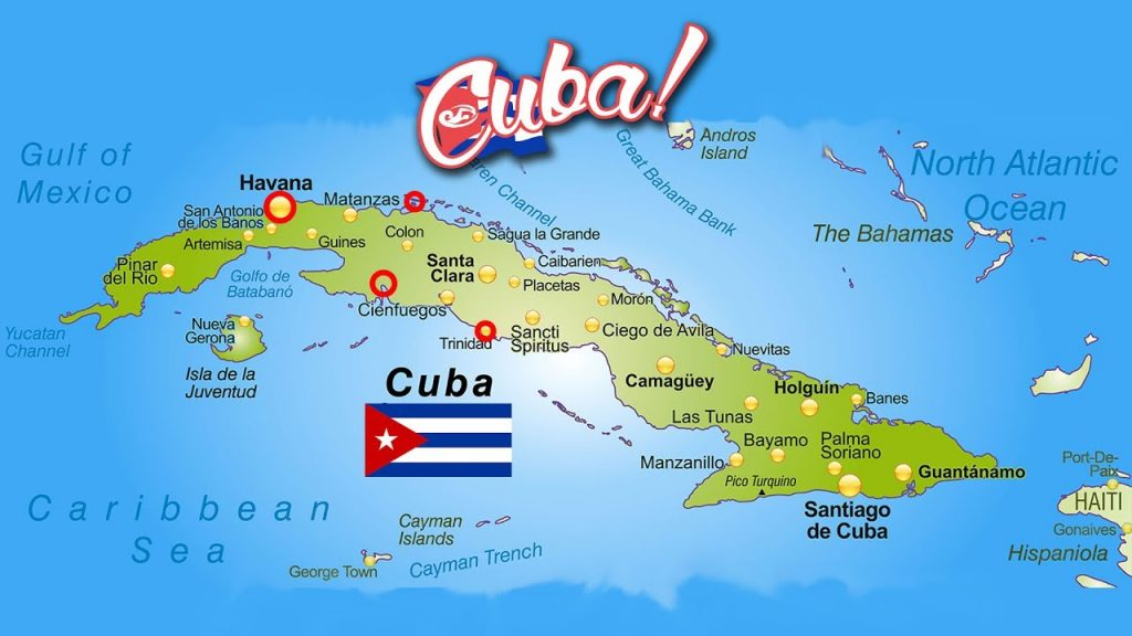 carte de Cuba: circuit tout inclus