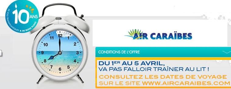 Promo Air Caraibes : billet d'avion 100 euros