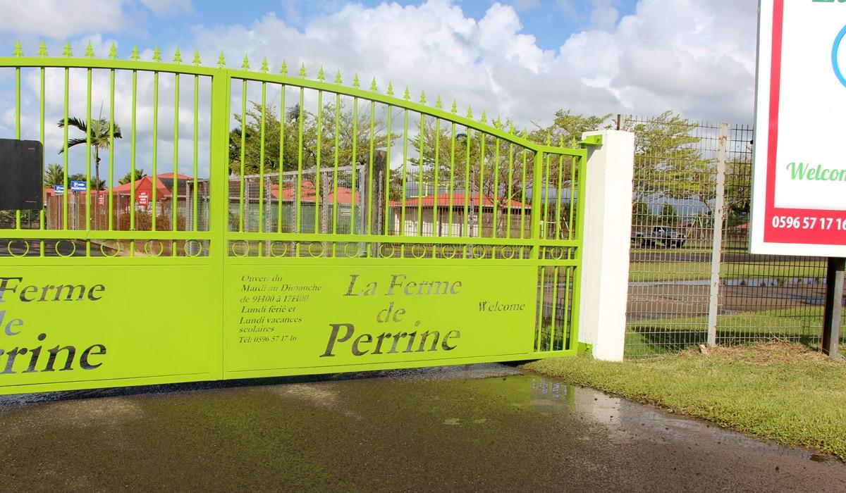 Ferme de Perrine en Martinique : entrée principale