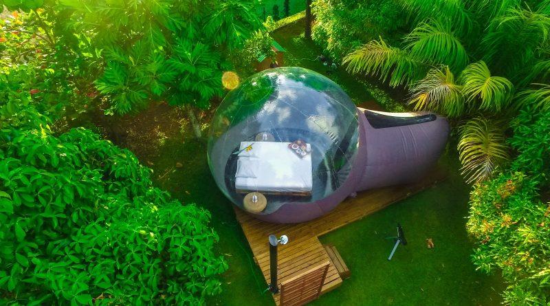 Wiwashimara : maison bulle Guadeloupe