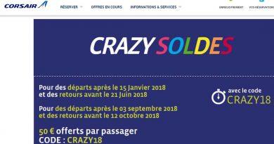 crazy soldes corsair: code promo