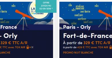 Nuit Blanche Air Caraibes: Promo