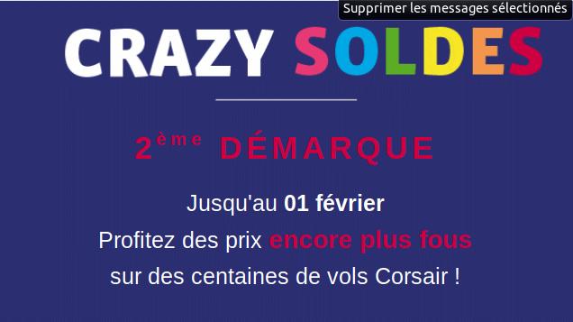 Crazy Soldes Corsair : promo billet d'avion