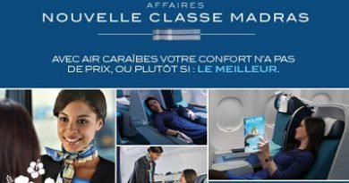 Classe Madras Air Caraibes , cabine premium affaire Air Caraibes