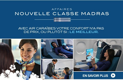 Classe Madras Air Caraibes , cabine premium affaire Air Caraibes