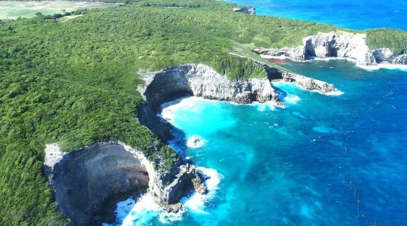 Marie Galante falaise caye plate : archipel Guadeloupe, Antilles françaises