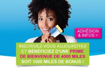 Carte préférence : programme de fidélité Air Caraibes