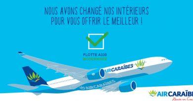 Air caraibes promo vol achété , billet offert