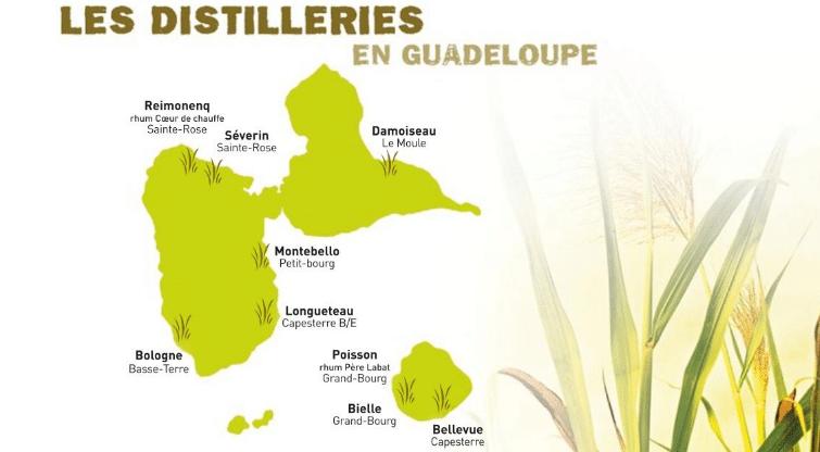 Distilleries de rhum en Guadeloupe? meilleures rhumeries de Guadeloupe à visiter. Distillerie des Antilles françaises aux Caraïbes.
