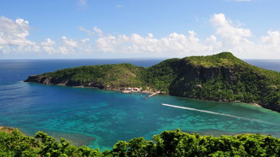 Paysage plage Guadeloupe