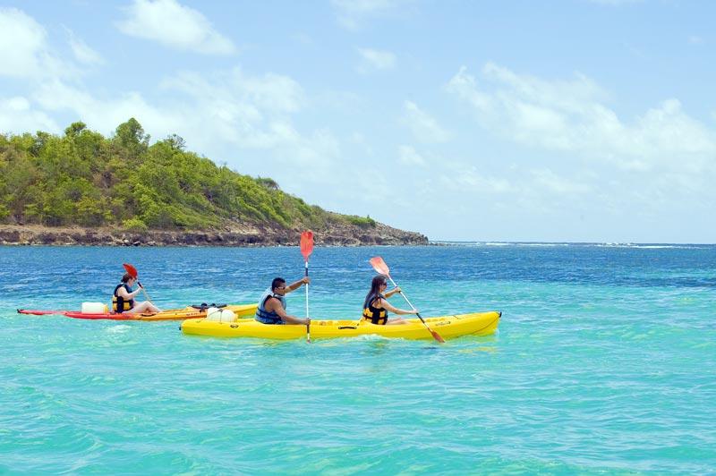 Excursion Kayak Martinique. Visite de la Mangrove en Martinique et explorations des îles.et vi