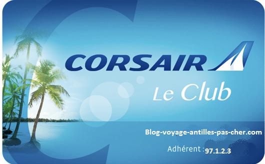 Club Corsair : carte de fidélité programme Corsair