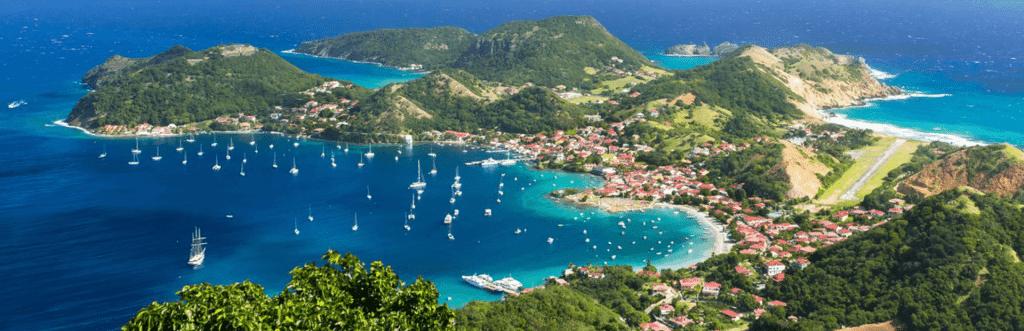 Archipel Guadeloupe : iles des Saintes , Antilles francaises