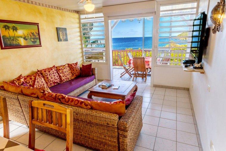 Séjour Martinique : salon dans une villa créole