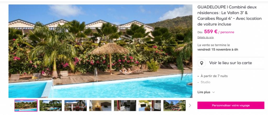 Vente privée : séjour Guadeloupe avec location voiture incluse