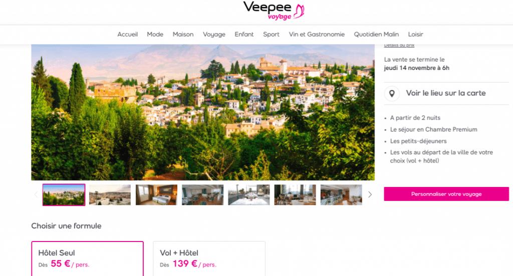 Séjour à Grenade : vente privée veepee en Espagne