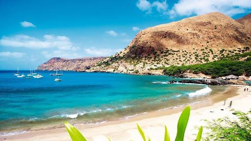 Paysage naturelle de l'île de Sao Nicolau : archipel du  Cap Vert .