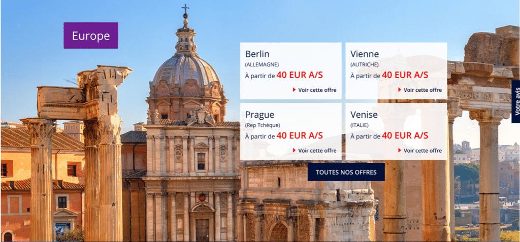 Des billets d'avion discount Air France Europe dès 50 euros : Berlin , Vienne, Prague, Venise .