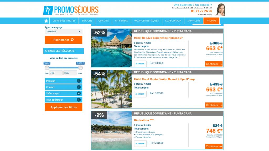 Offre de réduction promtionnelle pour un voyage tout compris à Punta  Cana,  séjour de 9 jours et 7 nuits : 1 semaine. + possibilité de payer en 4 fois .