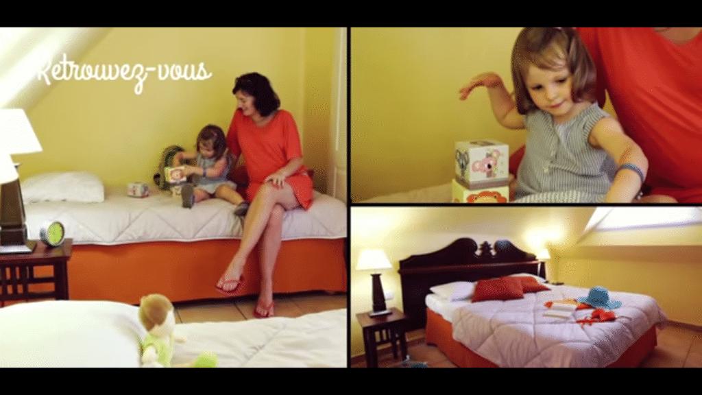 Appartement Pierre et Vacances Sainte Luce: chambre pour enfant et adulte