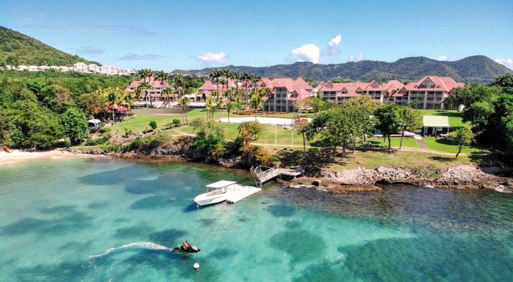 vue aérienne de la résidence de Vacances à Sainte Luce face à la plage