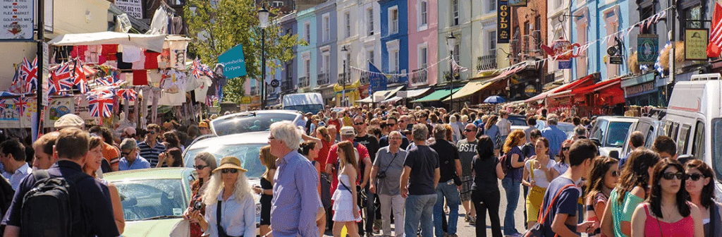 marché de Portobello : lieux à visiter à Londres