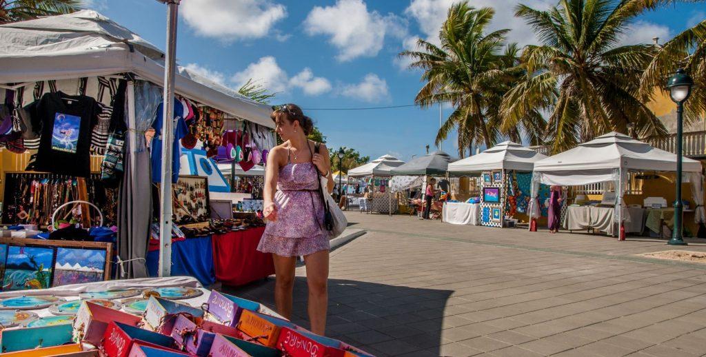 Marché de Kralendijk la capitale de Bonaire
