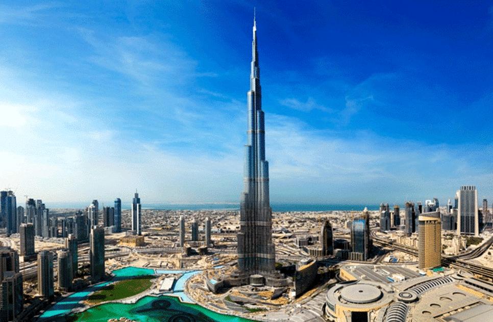 Burj Khalifa à Dubai: vue générale du plus grand gratte ciel du monde