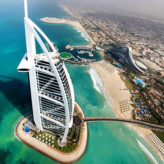 Burj al Arab : grand hotel de luxe 7 étoiles à visiter à DUbai