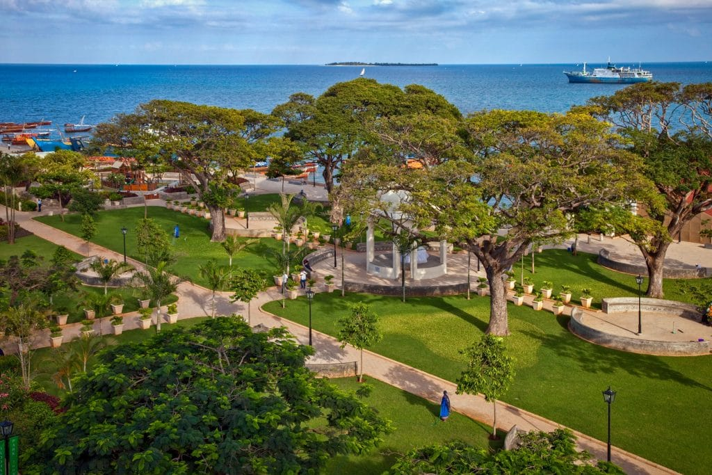 jardin de Forodhani : lieu touristique à voir à Zanzibar