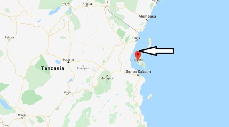 Où est Zanzibar en Afrique:localisation proche Tanzanie