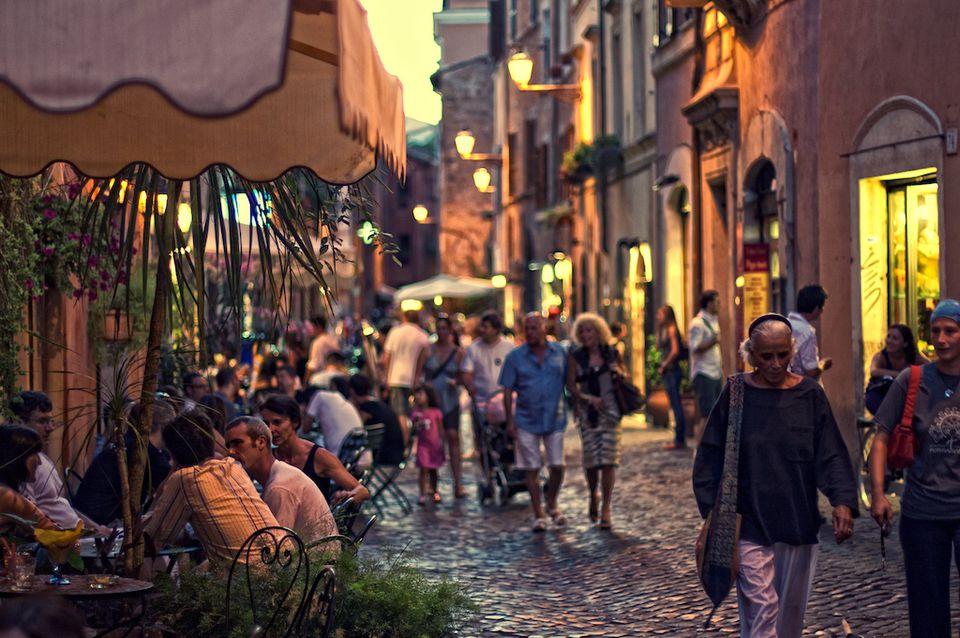 Visiter Trasteverse la nuit pour faire le tour des restaurants
