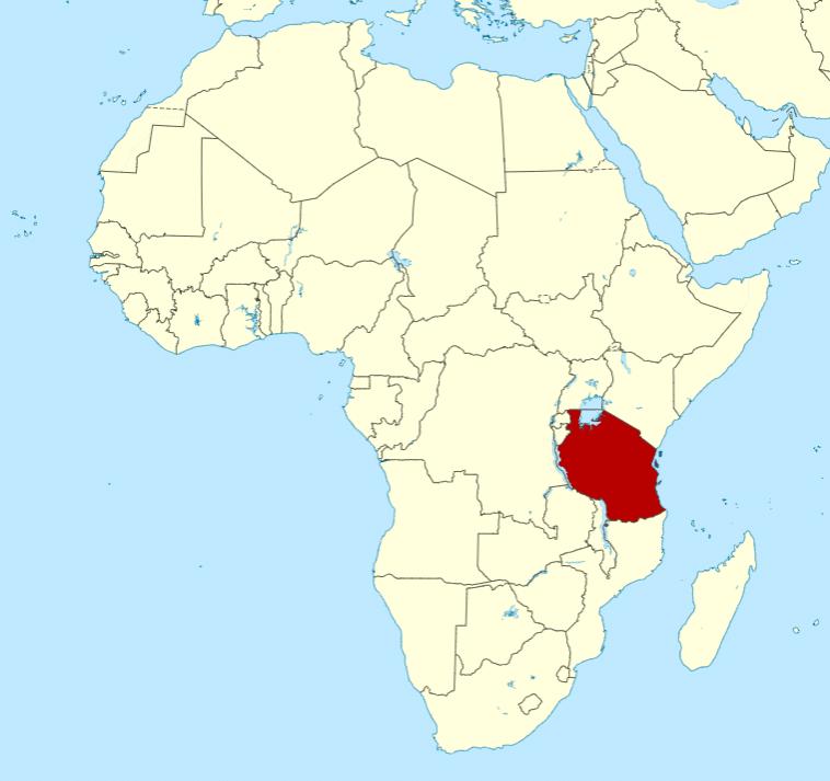 ou est la Tanzanie en Afrique : localisation sur Carte