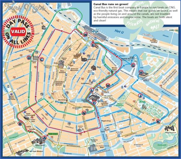 Amsterdam: Carte des lieux touristiques à visiter