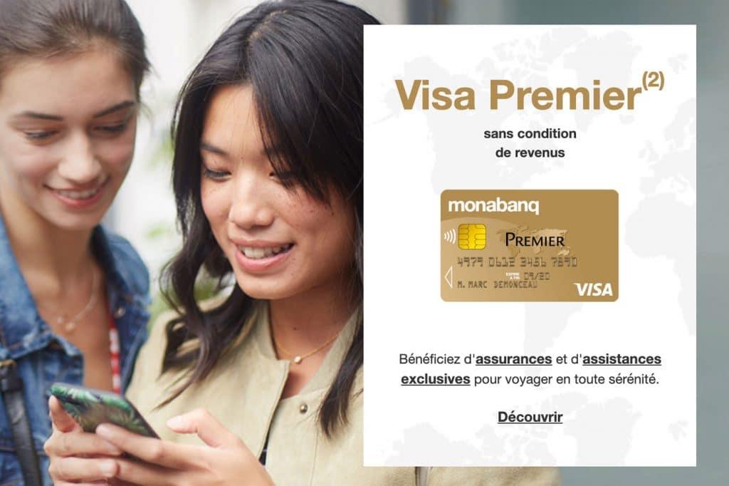 Carte Visa Premier Monabanq : banque en ligne