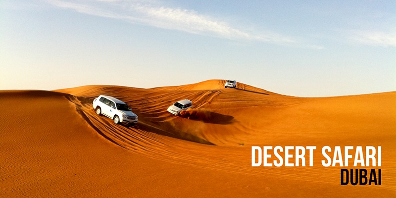 Faire un safari dans le désert de Dubai : une excursion en 4X4,  quad ou dromadaire et chameau