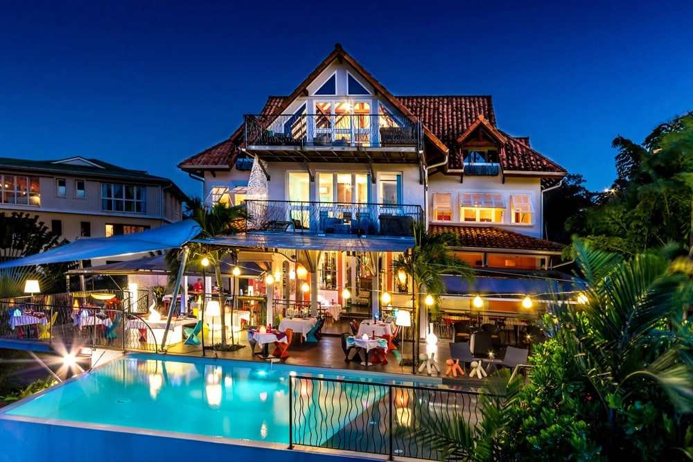 Villa Suite : vue d'ensemble : grande hbaitation créole