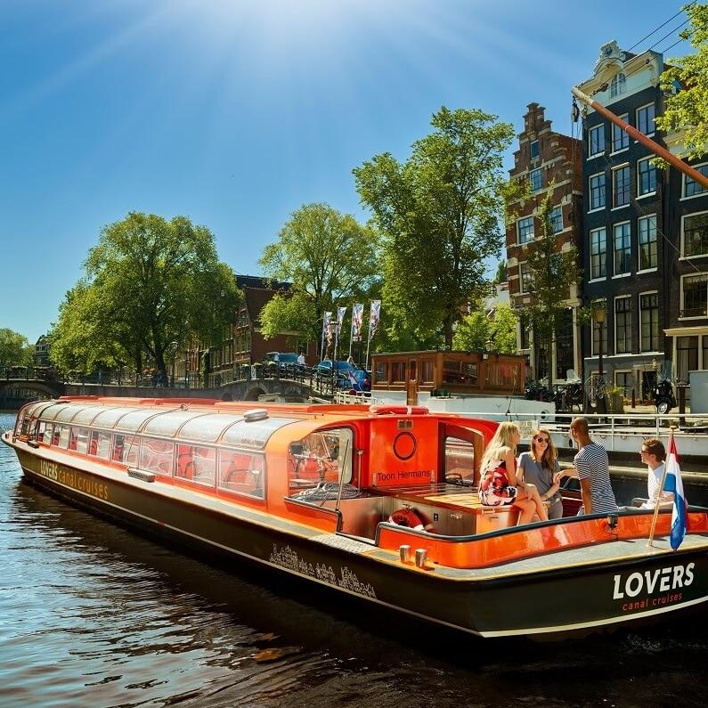 excursion sur un canal d'Amsterdam avec Lindberg Travel tout