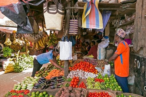 marché de Djarani dans la capitale de Zanzibar