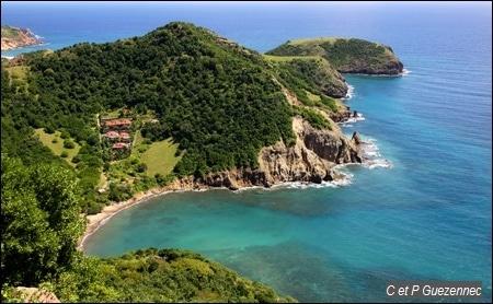 morne Chameau aux Saintes, archipel de Guadeloupe à visiter