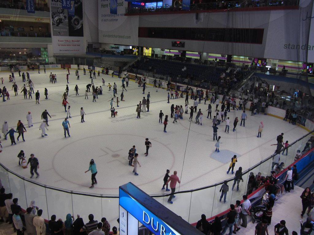 patinoire de Dubai : activité à faire lors du séjour