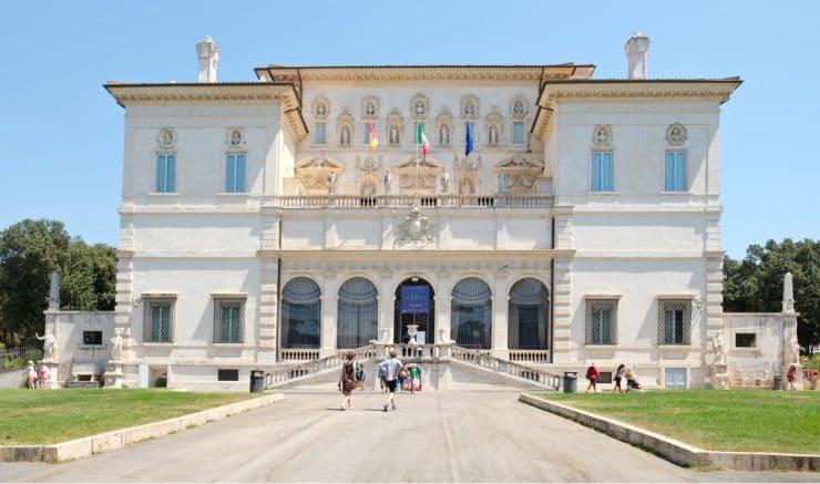 Villa Borghese : entrée de la Galerie à visiter à Rome