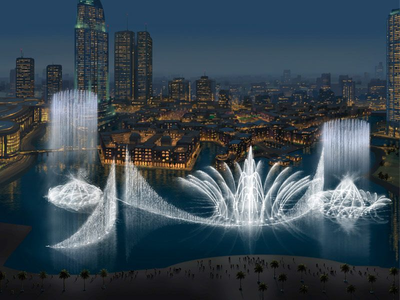 Fontaine de Dubai : lieu touristique à visiter