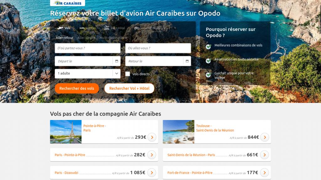 billet d'avion Air Caraibes pas cher : promo