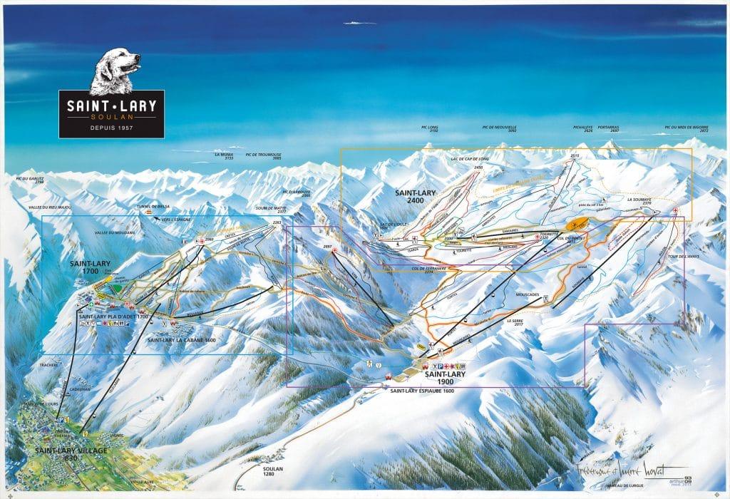 Saint Lary : carte des pistes skiable