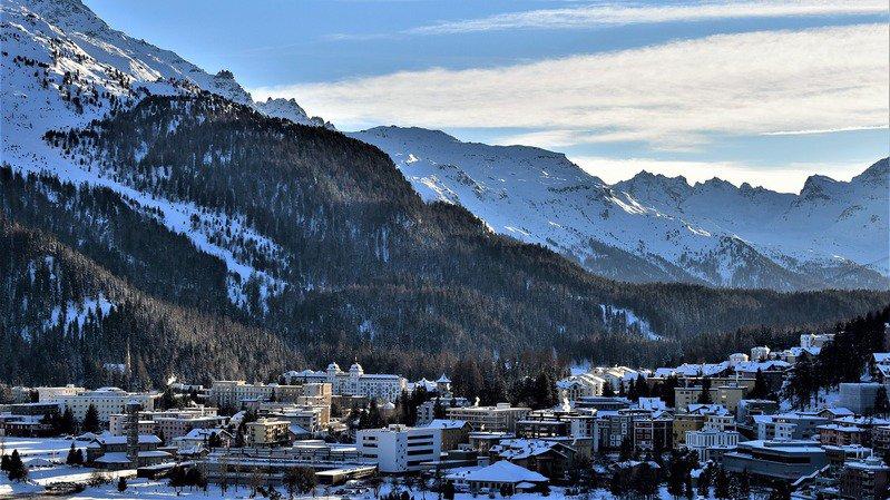 Saint Moritz paysage : village
