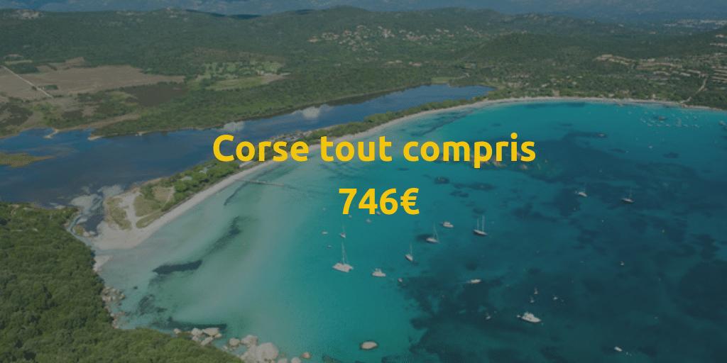 Voyage tout compris en Corse : forfait vacances vol inclus