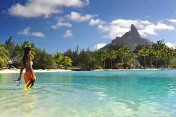Tahiti plage , paysage : Polynésie française