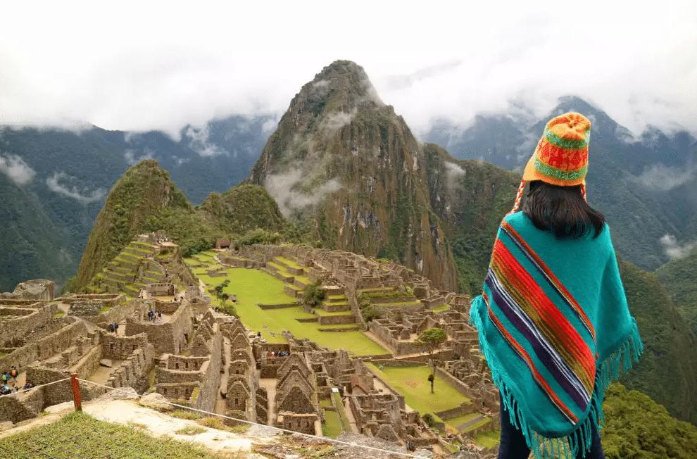 Vue aérienne du Machu Picchu